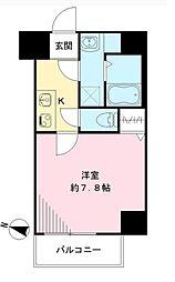 Osaka Metro谷町線 天神橋筋六丁目駅 徒歩8分の賃貸マンション 6階1Kの間取り