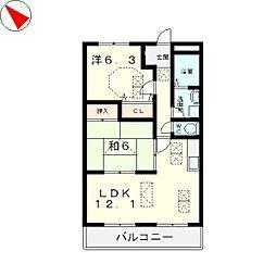 アン・クレール2[2階]の間取り
