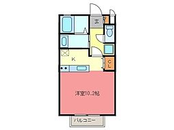 愛知県常滑市大和町6丁目の賃貸アパートの間取り