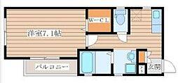 仙台市地下鉄東西線 大町西公園駅 徒歩8分の賃貸アパート 3階1Kの間取り