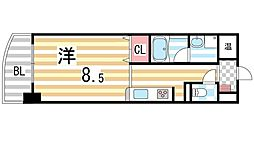 ミカド21鴻池[802号室]の間取り