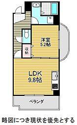 名古屋市営東山線 本山駅 徒歩3分の賃貸マンション 5階1LDKの間取り