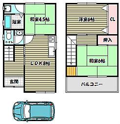 [一戸建] 大阪府大阪狭山市狭山2丁目 の賃貸【/】の間取り