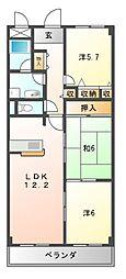 メゾンファミイユ[1階]の間取り