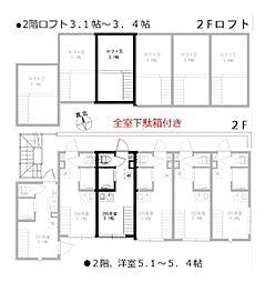 HOMEDAYS高田馬場(ホームデイズ高田馬場) 2階ワンルームの間取り