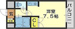 SENTIA八戸ノ里[104号室]の間取り
