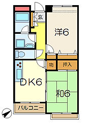 第3和同マンション[1階]の間取り