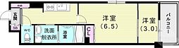 Xing CUBE ONE 4階2Kの間取り