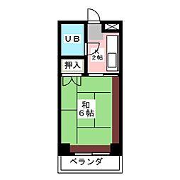 コーポ伊藤[2階]の間取り