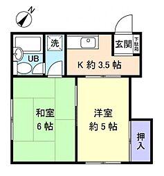 菊和ハイツ[1階]の間取り