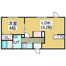 GRND COURT B[2階]の間取り