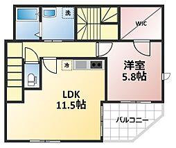 KIKI三番館[2階]の間取り