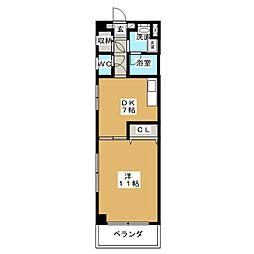 パールコートIII[8階]の間取り