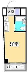 ヒルハウス コンフォートI[2階]の間取り