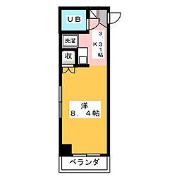 エトワール本庄第2[4階]の間取り