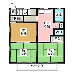 ハイツ大場[2階]の間取り