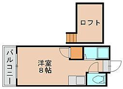 エスピエル箱崎[2階]の間取り