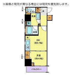JR総武本線 馬喰町駅 徒歩5分の賃貸マンション 7階1DKの間取り