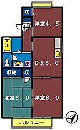メゾン石神[105号室]の間取り