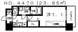 ミリアン四天王寺夕陽丘II[9階]の間取り