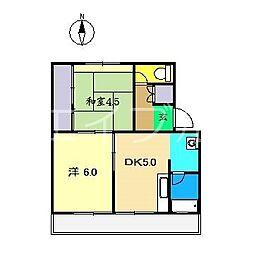ビレッジハウス高知1号棟[1階]の間取り