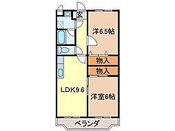 静岡県富士市今泉の賃貸マンションの間取り
