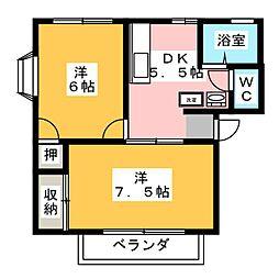 ヨコザワヒルズ13[2階]の間取り