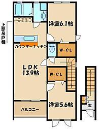 ルマージュ神戸五番館[2階]の間取り