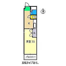 ハイツリバーサイド[3階]の間取り