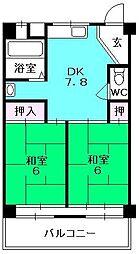 郷免住宅ビル[103号室]の間取り