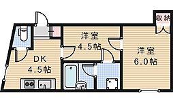 都マンション[2階]の間取り