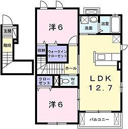 エストノーヴァIV[2階]の間取り