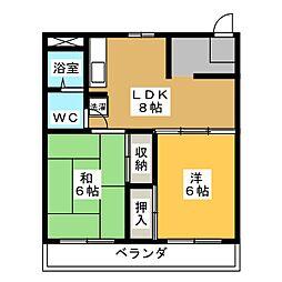 コーポ静岡[7階]の間取り