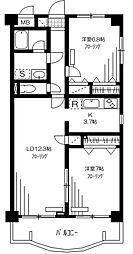 ミレニアム中野[4階]の間取り