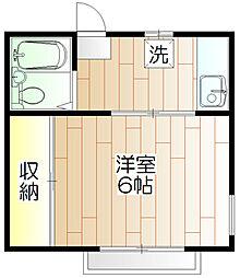 東京都小金井市貫井北町2丁目の賃貸アパートの間取り