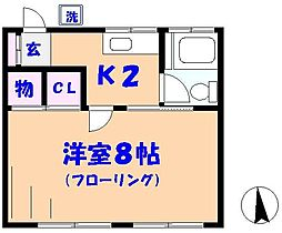 真間川マンション[402号室]の間取り