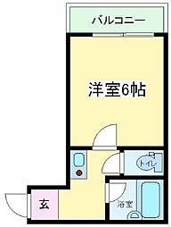 サンフラワー長居[3階]の間取り