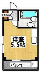 大阪府大阪市城東区今福西5丁目の賃貸マンションの間取り