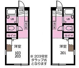 ハーミットクラブハウスマックス[2階]の間取り