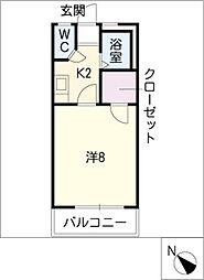 ランドマーク三ノ輪2[2階]の間取り