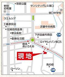 現地案内の地図