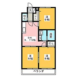エンドウハイツII[2階]の間取り