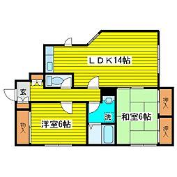 北海道札幌市東区北二十一条東17丁目の賃貸アパートの間取り