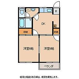 メゾンプルミエールA[2階]の間取り