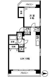 トーア東尾久マンション[3階]の間取り