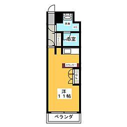 ドゥーエ大須[4階]の間取り