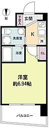 セレニテ江坂ルフレ 10階1Kの間取り