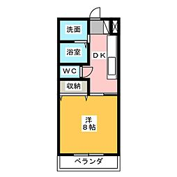 ホワイトロータス[1階]の間取り