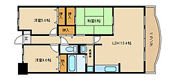 大阪府東大阪市新池島町4丁目の賃貸マンションの間取り