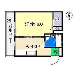 葵コーポ[2階]の間取り